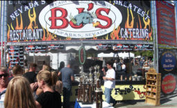 BJ's BBQ booth signage