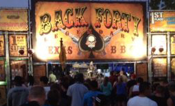 Back Forty BBQ booth signage