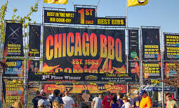 Chicago BBQ booth signage