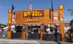 Hole in the Wall BBQ booth face