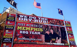 Just North of Memphis BBQ booth signage