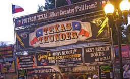 Texas Thunder booth signage